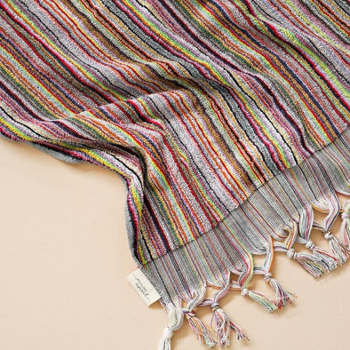 Carnival Striped Turkish Towel by Miss April