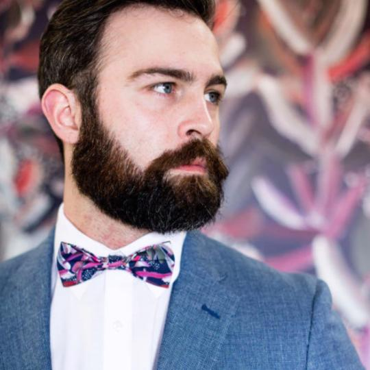 Navy Protea Bow Tie by Peggy and Finn
