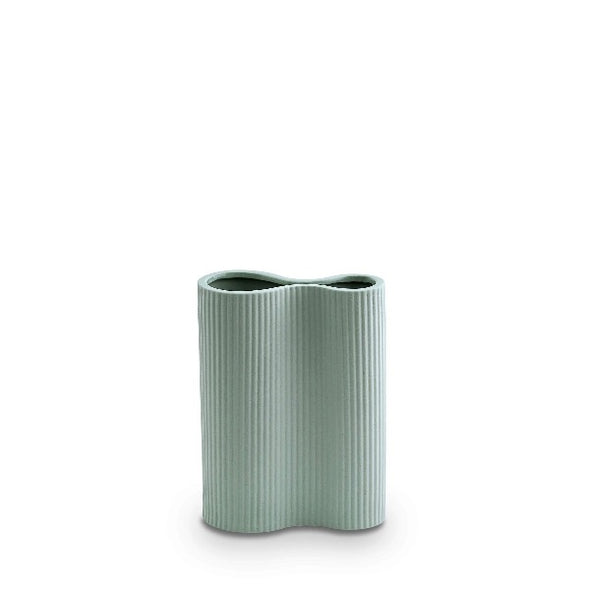 small blue infinity vase by Marmoset Found