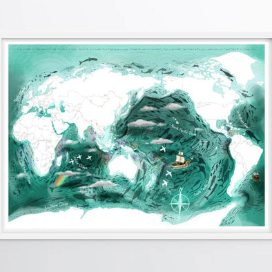 Room To Wonder Oceanic World Map Poster