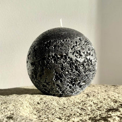 Sphere Candle in Black (L) by Candle Kiosk