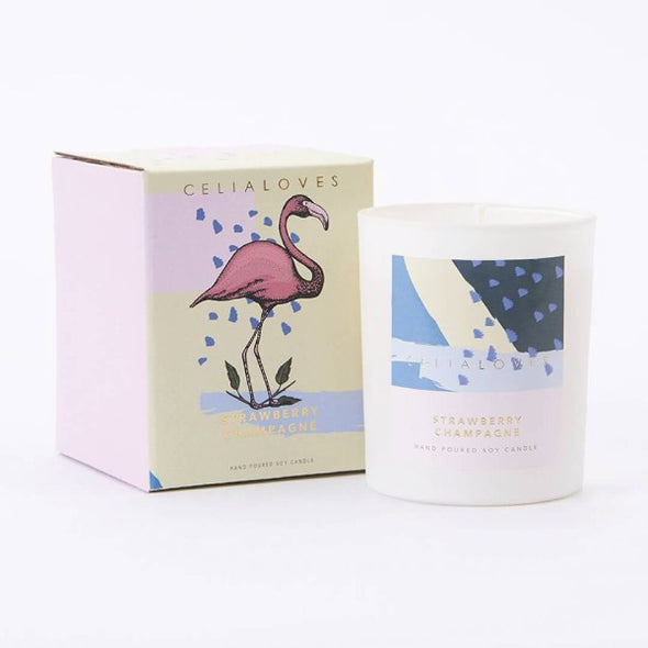 Strawberry Champagne candle by Ceilia loves