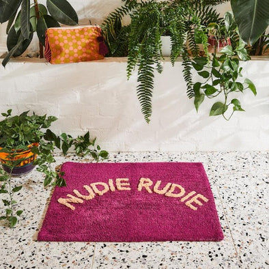 *PRE-ORDER Nudie Rudie Bath Mat in Boysenberry by Sage + Clare