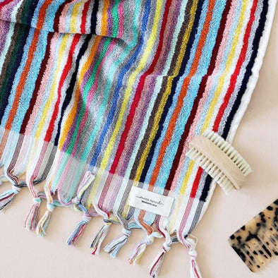 Vivid Striped Turkish Towel by Miss April