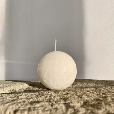Sphere Candle in White (S) by Candle Kiosk