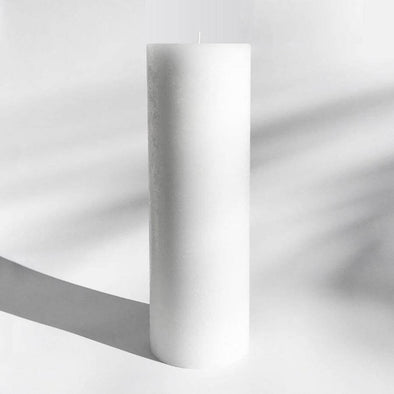Textured Candle in Pure White (L) by Candle Kiosk