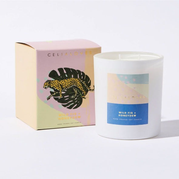 Wild Fig and Honeydew candle by Ceilia loves