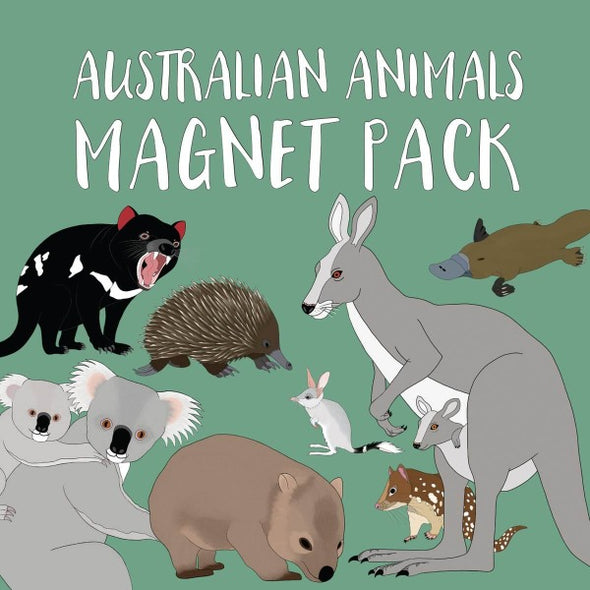 Australian animals magnet set by Red Parka