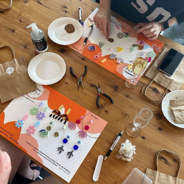 Burbridge and Burke statement earring workshop
