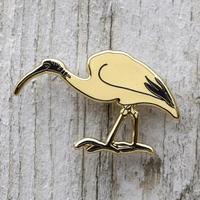 Ibis Pin by Bridget Farmer