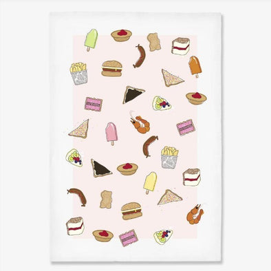 Make Me Iconic AUSSIE FOODS Tea Towel