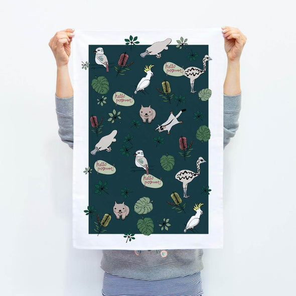 Make Me Iconic AUSSIE NATIVES Tea Towel