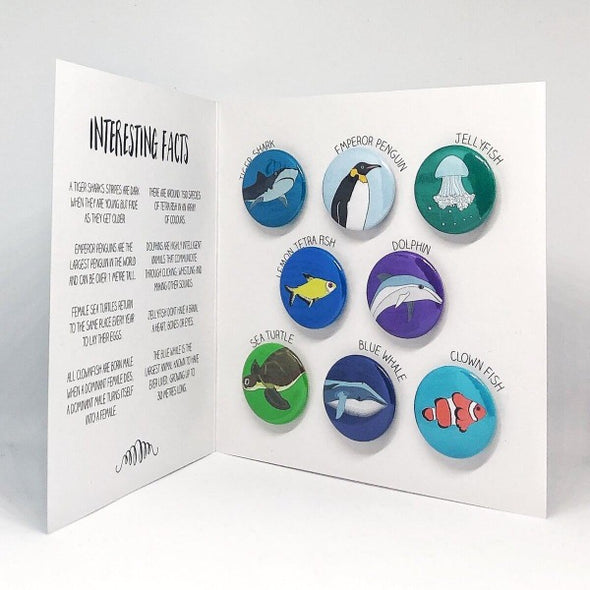 ocean creatures magnet set by Red Parka