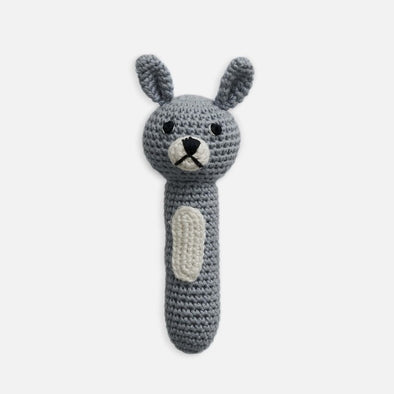 Miann & Co Hand Rattle - Slate Blue Bunny