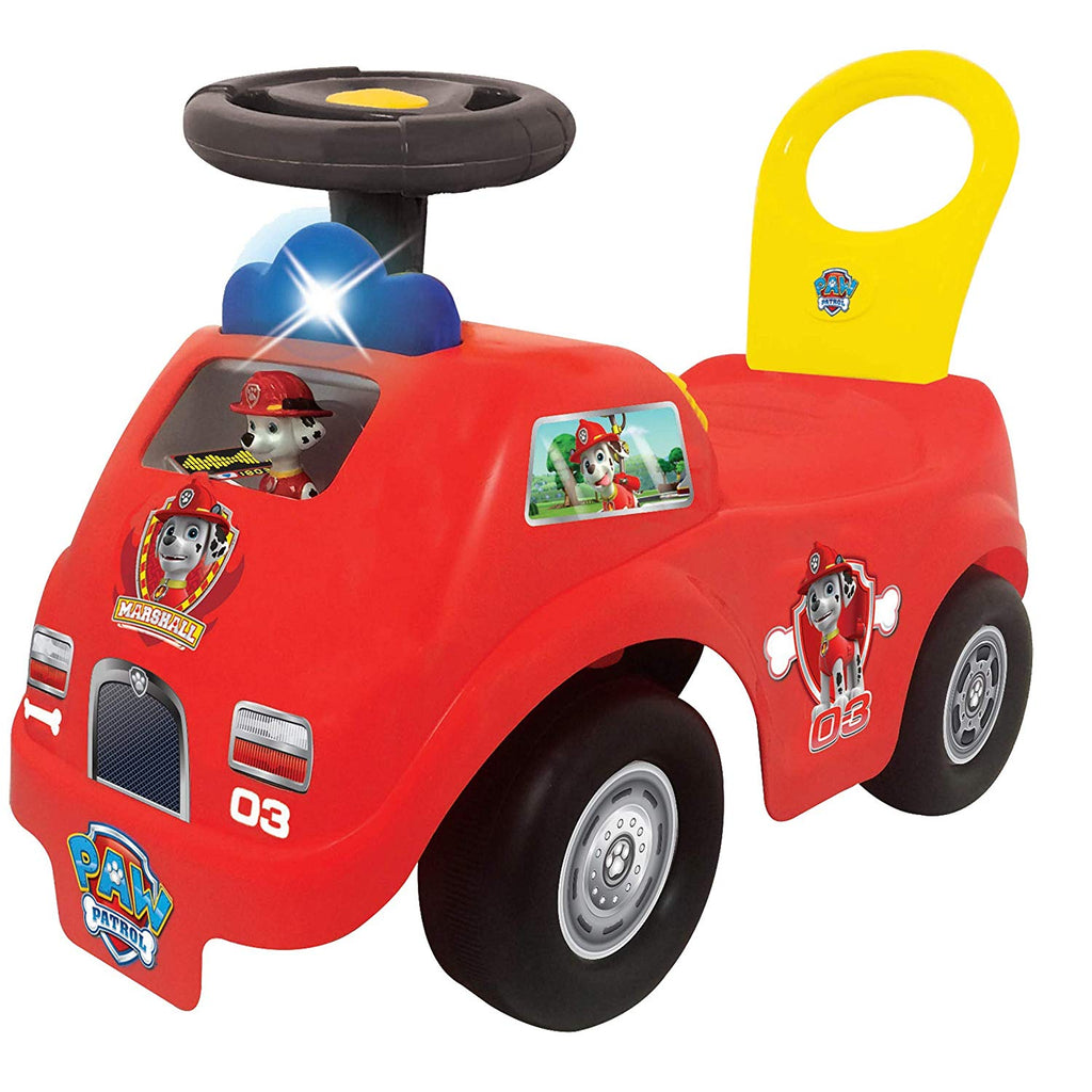 Paw Patrol's Marshall Activity Fun Fire Truck Ride On - Kids Love It