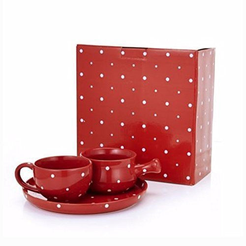 Temp-tations - 3 Piece Lunch / Soup Bowl Set, Square Roaster with lid - Perfect Gift For all Occasions - This Ceramics are Oven Safe Up To 260°C