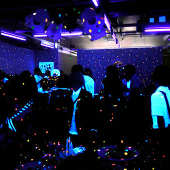 black light uv light party