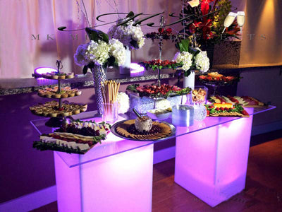 LED Glowing Buffet Table Display