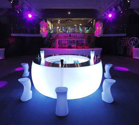 Cordless Popup LED Modular Glowing Bar for restaurant bar patio decks and terrace