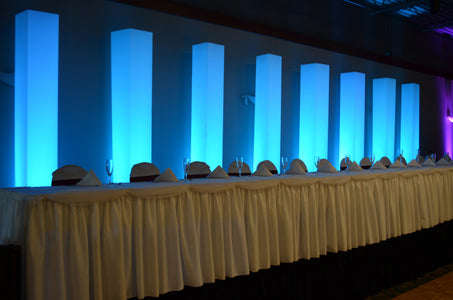 LED Pillar Column Backdrop Head Table