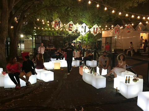 Cordless LED Glow Patio Furniture for Bar Restaurant ambient lighting