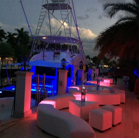 LED Accent Cubes for ambient lighting effect in restaurant bar patios decks and terraces