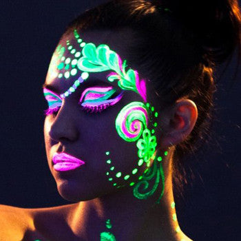 glow in dark face paint