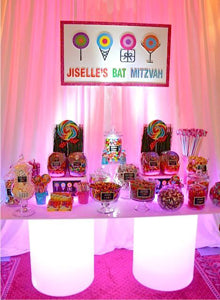 LED Glowing Dessert Table Candy Station