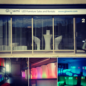 glowmi led furniture showroom warehouse office