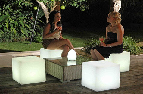 illuminated LED Glow furniture lighting decor patio deck