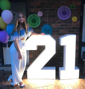 LED Marquee Number for Birthday Party