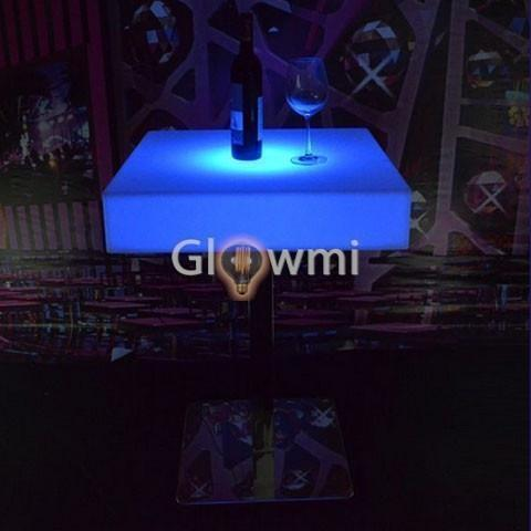 Glowmi Cruiser Tables The Carlton Square Top LED Cruiser Table