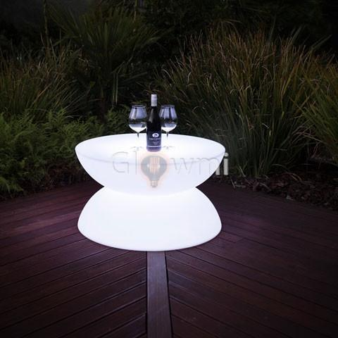 Glowmi LED Table Lunar LED Circular Lounge Table