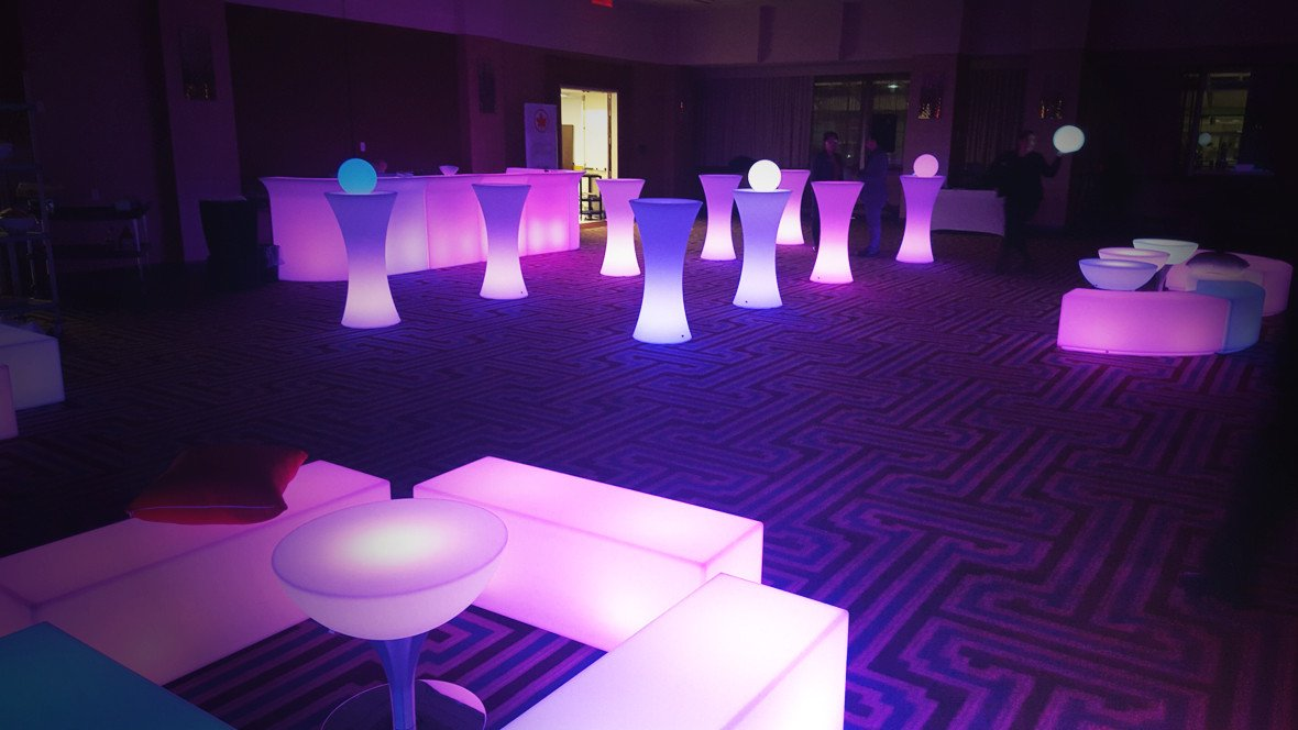 Glowmi LED Furniture & Decor Event and Party Summer Rental Bundles/Packages