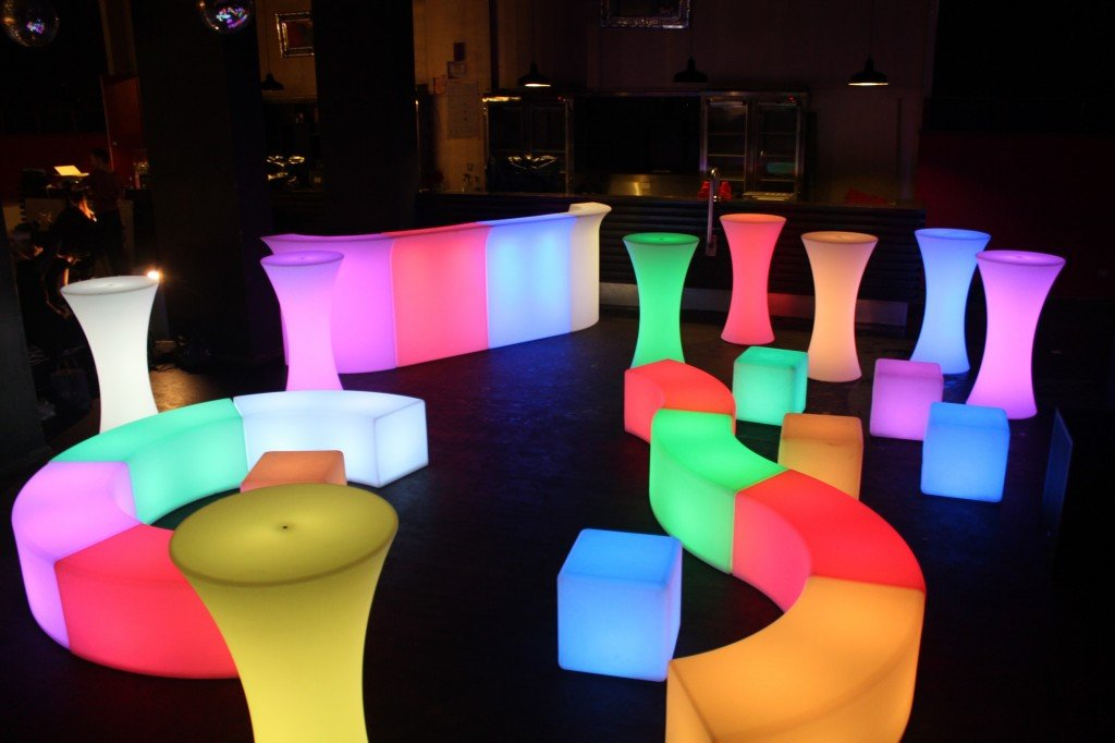 Glowmi LED Furniture rental hire Toronto GTA