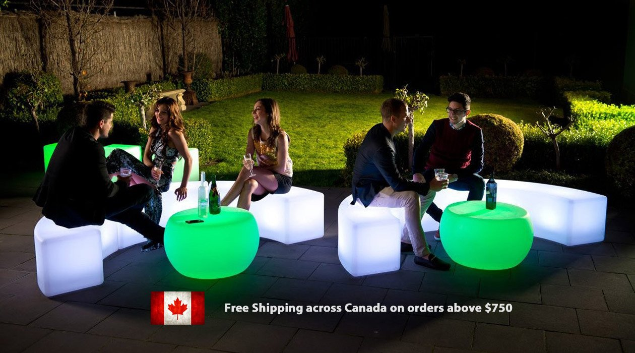 Glowmi LED furniture outdoor indoor