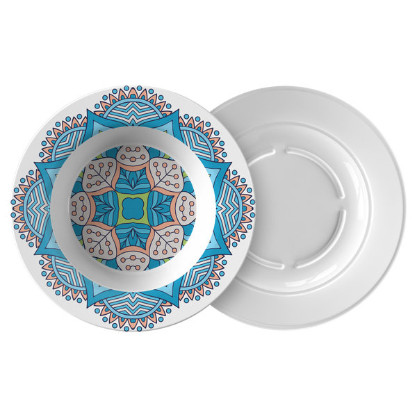 Adele Mandala Designer 8.5 Inch Bowl - Microwave, Dishwasher Safe - Mind Body Spirit