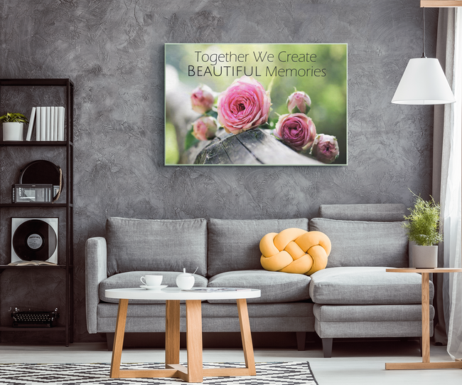 Together We Create Beautiful Memories Canvas Wall Art in 5 Sizes - Mind Body Spirit