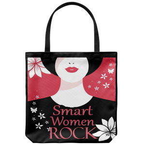 Smart Women Rock Original Design Tote Bag 18 x 18