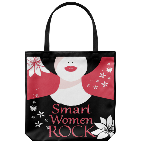 Smart Women Rock Original Design Tote Bag 18 x 18 - Mind Body Spirit