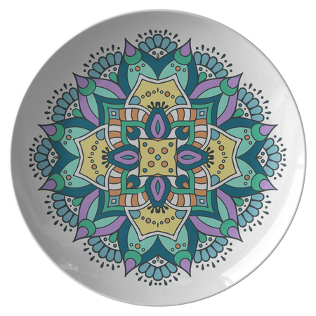 Lovely Della Mandala Designer Bowl ThermoSāf® Polymer 8.5 Inches - Microwave, Dishwasher Safe