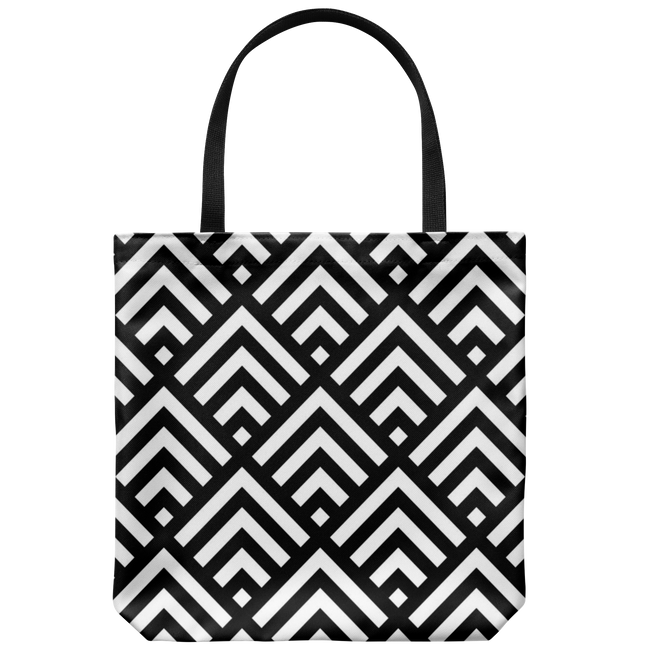 'Deana' Diamond Deco Custom Design Tote Bag 18 x 18, Purple,Black,Yellow,Teal,Cobalt, - Mind Body Spirit