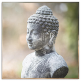 Weathered Buddha Canvas Wall Art - An Ancient Well Loved Image in 4 sizes