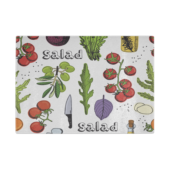 Fresh Salad Designer Cutting Board - Durable Tempered Glass