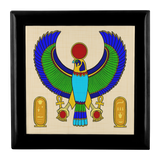 Egyptian Ancient Look Phoenix Wooden Jewelry Box in 3 Colors