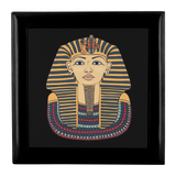 Egyptian Gold Look Mask on Black Custom Wooden Jewelry Box - 3 Colors - Mind Body Spirit