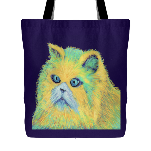 Kitty Blue Eyes Original Design Tote Bag, Shopping, Beach Bag,  18 x 18 - Mind Body Spirit