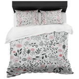 Spring Delight- Luxury Bed in a Box, Duvet and 2 Shams, Queen and King
