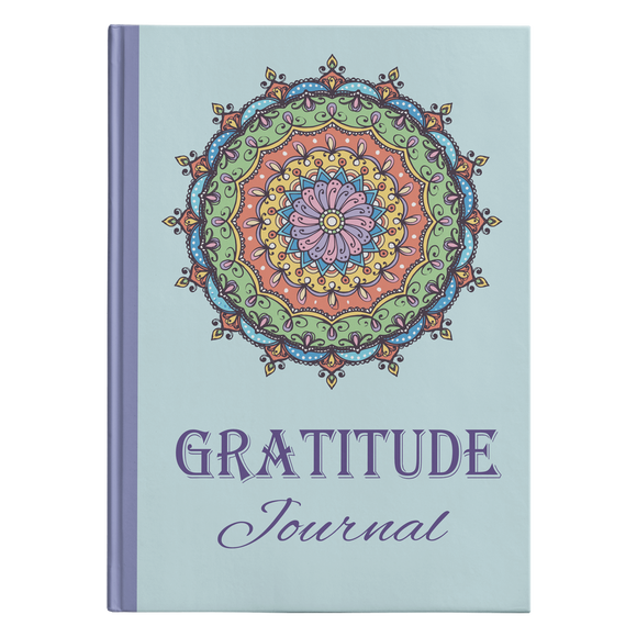 Gratitude Mandala Designer Hardcover Journal in 2 Sizes - Mind Body Spirit