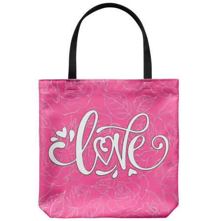 Izzy Fun Hip Flower Custom Design Tote Bag 18 x 18